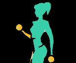 Női fitness rendszeres edzés