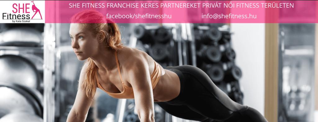 Női fitness terem franchise - SHE Fitness